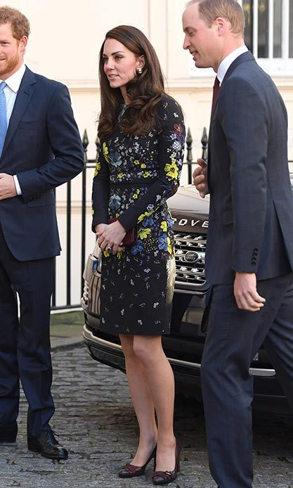 The Duchess of Cambridge looked stunning in a floral Erdem dress and Tod's heels to attend a Heads Together briefing in London.