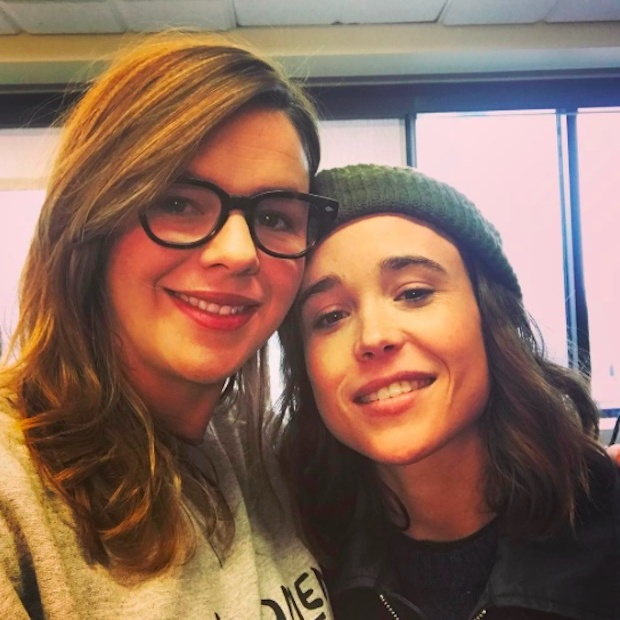 Amber Tamblyn and Ellen Page headed to Washington. 