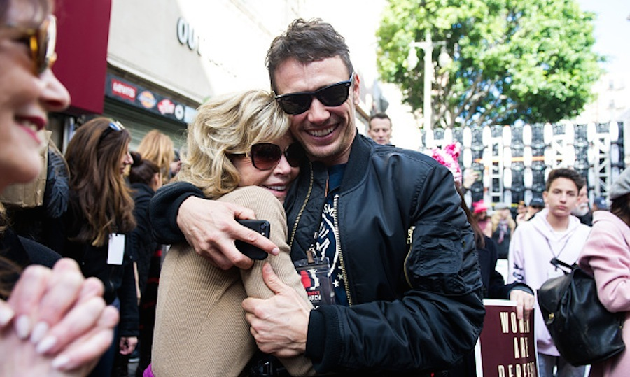 James Franco and Jane Fonda were also in the LA crowd. 