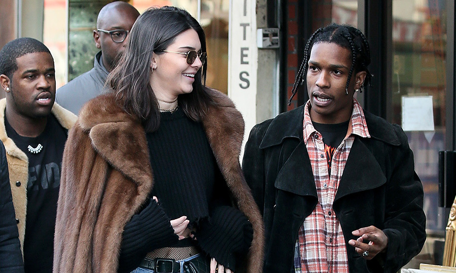 <h3>Kendall Jenner and A$AP Rocky</h3>