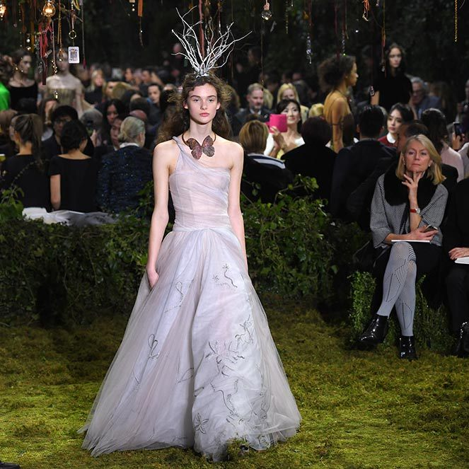 The Musee Rodin was transformed into a fairytale wonderland for the Christian Dior Haute Couture show on Monday. The presentation marked Maria Grazia Chiuri's first couture collection for the label, and earned huge praise from fashion critics.