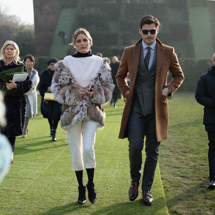 Olivia Palermo and her husband Johannes Huebl made a stylish duo at the Christian Dior Haute Couture Spring Summer 2017 presentation.