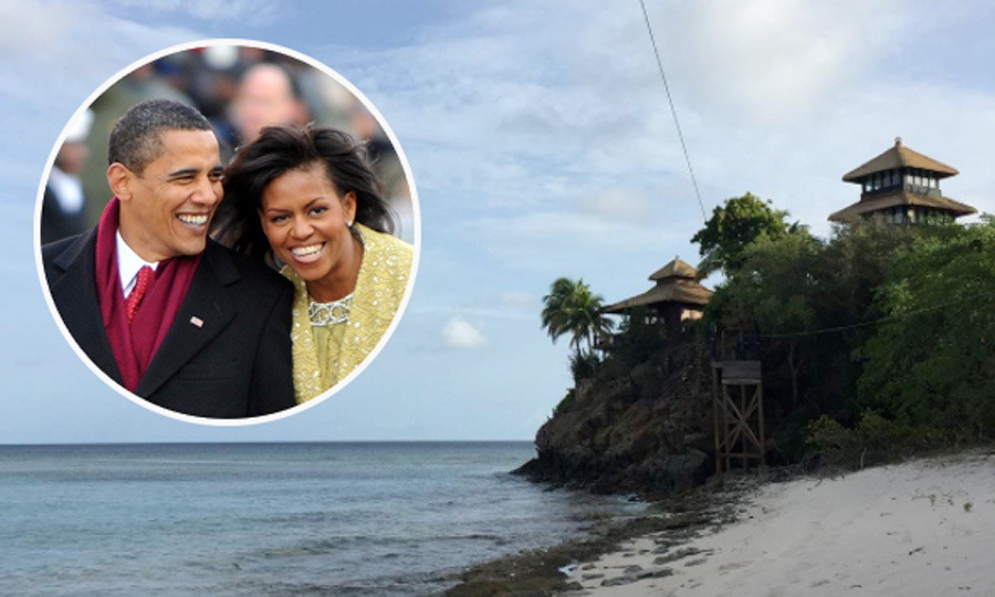 Barack And Michelle Obama Vacation On Richard Branson 39 S