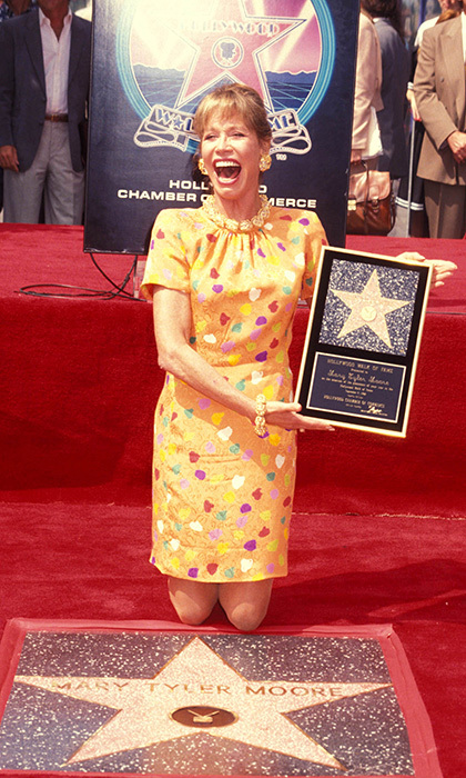 The iconic actress received a star on the Hollywood Walk of Fame in 1992. 