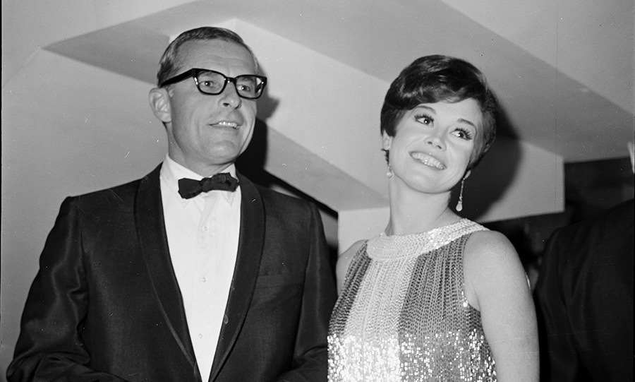 Pictured with her second husband, Grant Tinker. 