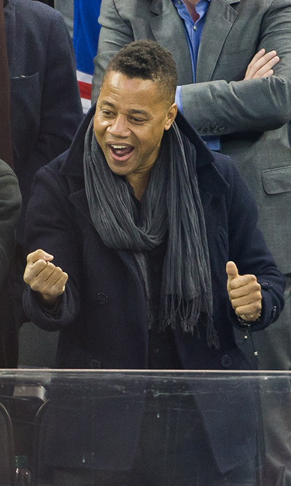 Hockey super fan Cuba Gooding Jr. is often in the stands at games in LA and New York. 