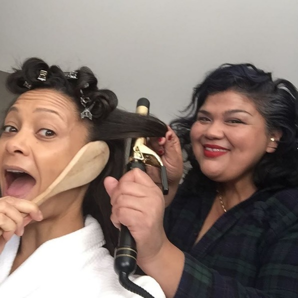 "<p>The actress also gave fans an unusual beauty tip in another Instagram post. ""Oh.my.God!!! New Top Tip! Use a wooden spoon to cover your ear when your cousins doing your hair using hot tools ha ha ha! So clever. I love my @patriciamoraleshair x,"" Thandie wrote.</p><p>Thandie appeared to be having fun as she playfully held a wooden spoon over her ear to prevent burns ahead of her red carpet appearance.</p><p>Photo: &copy; Instagram</p>"