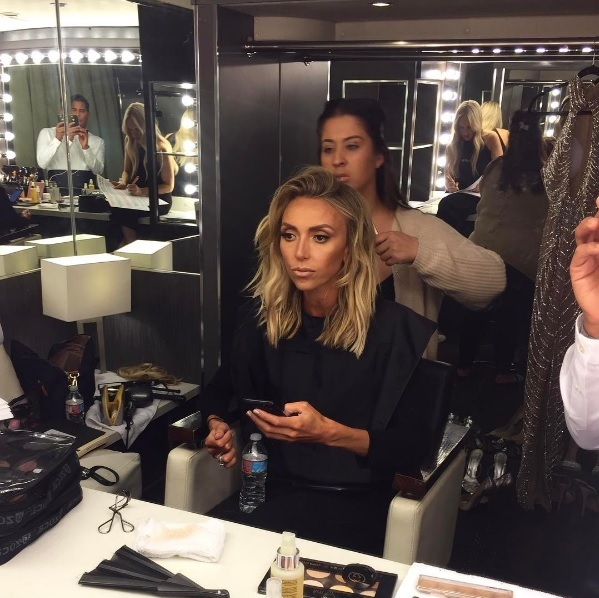 "<p>Giuliana Rancic shared a photo of her red carpet beauty preparations with her 2.6 million Instagram followers, saying she was showcasing ""beachy hair vibes"" for her hosting duties.</p>"
