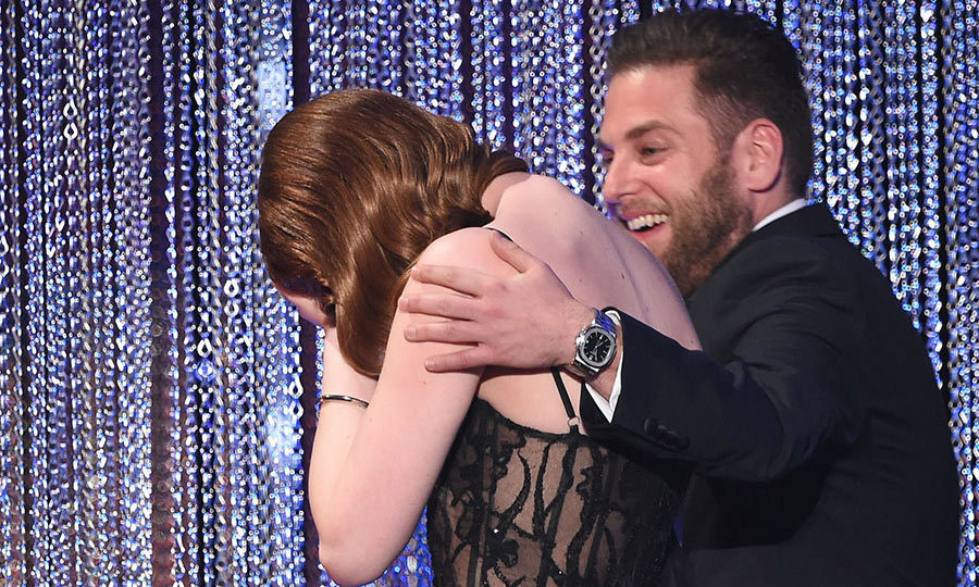 "<p><strong>Emma Stone's shocked reaction</strong></p><p>After her success at this year's Golden Globes, Emma Stoned appeared <a href=""/celebrities/2017013036217/ryan-gosling-emma-stone-sag-reaction/"" target=""_blank"">extremely shocked</a> when her name she was awarded the Outstanding Performance for a Female Actor gong at the 2017 Screen Actors Guild Awards on Sunday. The <em>La La Land</em> actress fought off competition from four other impressive leading ladies as she scooped the top honour. Also in her category were Amy Adams, nominated for <em>Arrival</em>, Emily Blunt for <em>The Girl on the Train</em>, Natalie Portman for <em>Jackie</em>, and Meryl Streep for <em>Florence Foster Jenkins</em>. During her speech, Emma stumbled a bit with her words, noting she was ""going to faint"" once she noticed the countdown clock. She went on to commend her fellow actresses, saying: ""You are the greatest and your talent and intelligence are mind-blowing."" After her speech, the actress walked away with her head in her hands alongside presenter Jonah Hill.</p><p>Photo: © Getty Images</p>"