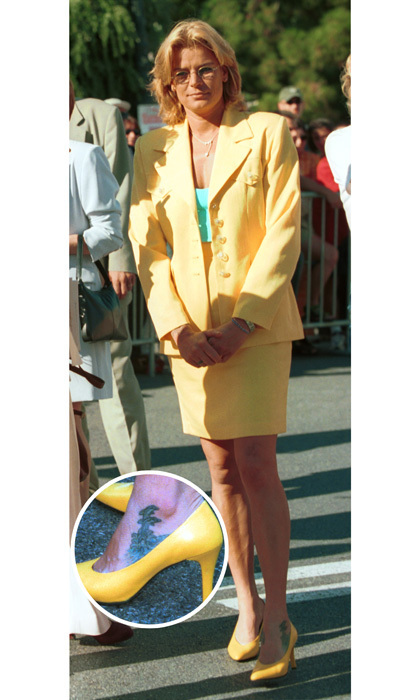 "<h3>Princess Stephanie</h3><p>The Monaco royal has a tattoo of two dolphins jumping out of the water on her left ankle. After the car crash that took her mother Grace Kelly's life, the Princess began to earn a reputation as a rebel royal. ""I realized how lucky I was to have life,"" Stephanie later said. ""I had my arms open to the future and I said to myself, 'This could be all over tomorrow.' Nobody has really tried to understand me or my behaviour, which just reflected my decision to enjoy life to the full.""</p><p>Photos: &copy; Getty Images</p>"