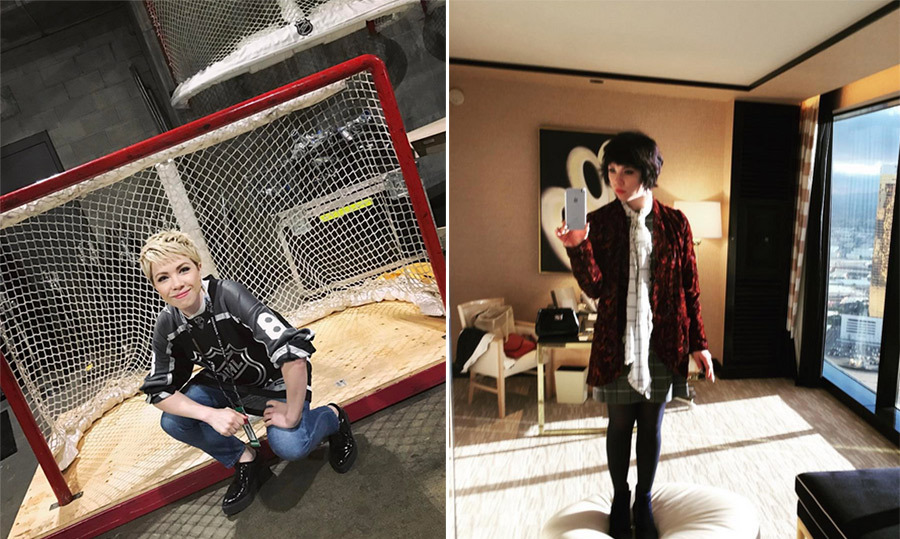"Carly Rae Jepsen is no longer a brunette! The singer debuted an adorable platinum blond pixie cut at the NHL All Star Game in Los Angeles on Jan. 29. The 31-year-old delivered a memorable performance of ""O Canada"" prior to the game. 
