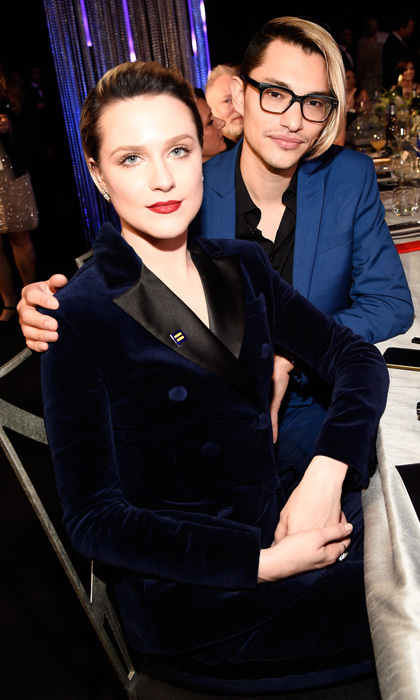 <h3>Evan Rachel Wood and Zach Villa</h3><p>The <em>Westworld</em> actress is engaged to her bandmate! The pair was spotted wearing silver bands on their ring fingers at the 2017 SAG Awards. Evan and Zach met in 2015 while performing in a John Hughes-themed cabaret in Los Angeles. Shortly after they teamed up to form their electronic pop group Rebel and a Basketcase. The actress was previously married to Jamie Bell, with whom she shares a son.</p><p>Photo: &copy; Kevin Mazur/Getty Images for TNT</p>