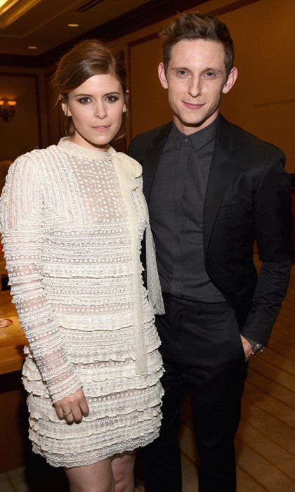 "<h3>Kate Mara and Jamie Bell</h3><p>The fantastic pair is engaged. Kate and Jamie, who joins his ex-wife with new engagements this year, stepped out as a couple after meeting on the set of the 2015 flick <em>Fantastic Four</em>. The couple was previously thought to have been engaged back in 2016 after Kate was spotted wearing a ring, however the British actor shut down reports, telling <em>E! News</em> a simple ""no"" when they asked if they were engaged. Kate showed off her sparkler on Twitter with a post celebrating her family's NY Giants on January 8 and news of an engagement quickly spread.</p><p>Photo: &copy; Michael Buckner/Getty Images for CinemaCon</p>"