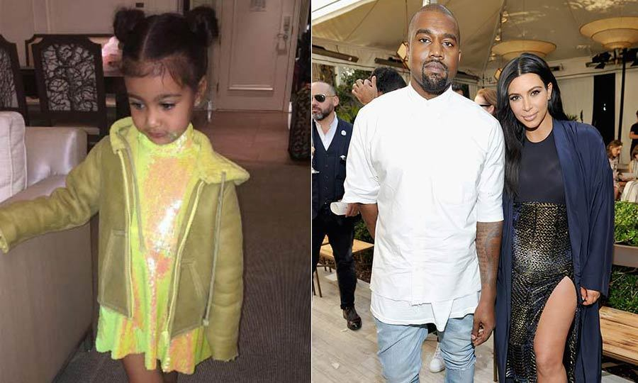 2d49fd855 North West shows off pieces from Kim Kardashian and Kanye West's children's  line