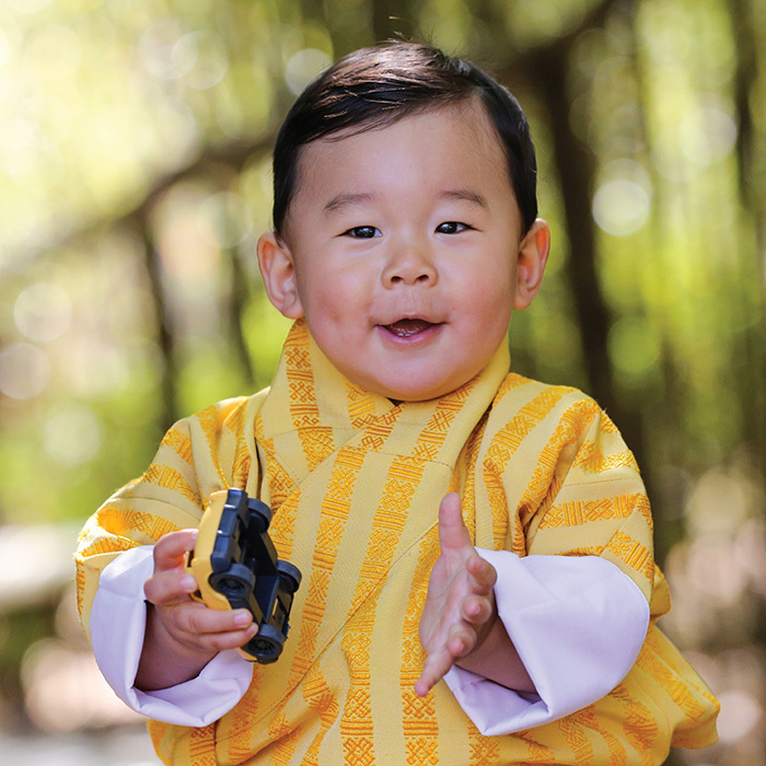 In honour of Jigme's first birthday on Feb. 5, Bhutan's Royal Family released a new portrait of their precious little boy. 