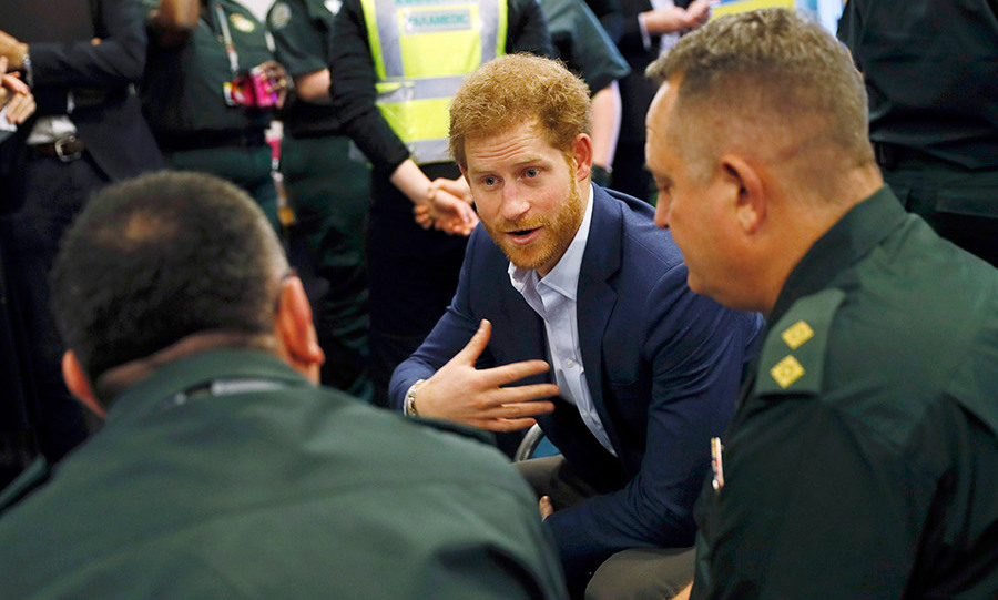 Prince Harry encouraged others to talk about their own difficult experiences.