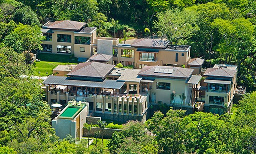 Nestled amidst the lush rainforest on the tip of Costa Rica's Peninsula Papagayo, the villa boasts incredible views of the breathtaking landscape, which will no doubt provide an ideal backdrop for the sisters' iconic selfies. <p>The villa can only be rented in its entirety - not by individual rooms - and can accommodate up to 22 guests, so there was plenty of space for the entire Kardashian-Jenner clan including Scott Disick and Tyga, who accompanied the family on the trip.</p>