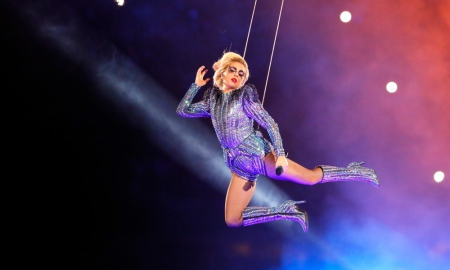 <strong>Feb. 5:</strong> Lady Gaga soared above the crowd during her Pepsi Zero Sugar Super Bowl 51 Halftime Show at NRG Stadium in Houston, Texas. 