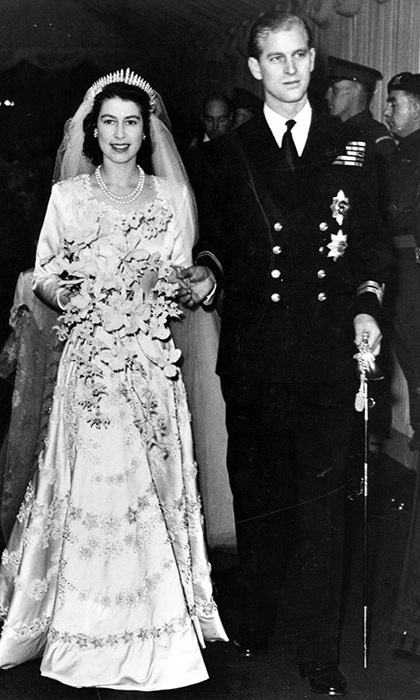 Prince Philip and Princess Elizabeth on their wedding day on November 20 1947.