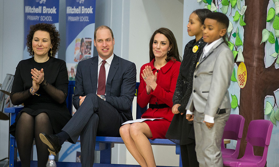 Duchess Kate gave a speech at the school during Children's Mental Health Week.