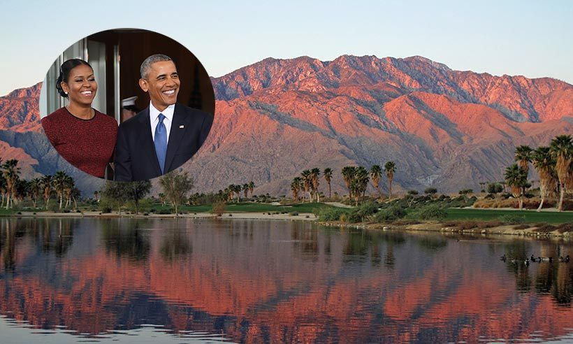 Barack Obama marked the end of his presidency by whisking wife Michelle on a well-deserved holiday; and it comes as no surprise that Palm Springs was the first stop on the couple's itinerary.