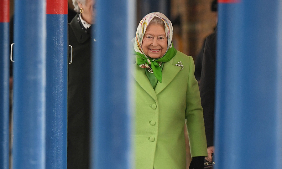 The Queen took the scheduled 10.54 service from King's Lynn in Norfolk to King's Cross in London.