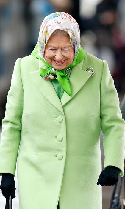 Her Majesty appeared to be in high spirits as she returned to London.