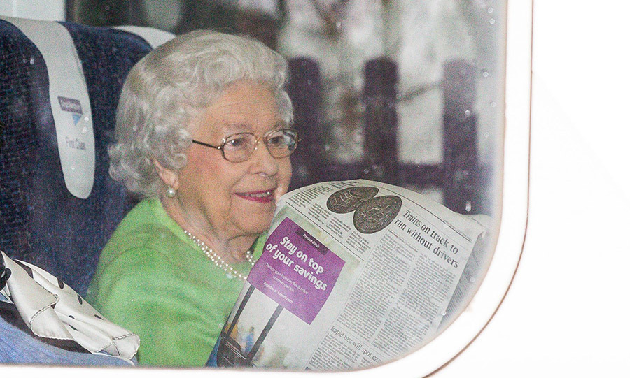 The Queen and her friend had seats in a first class carriage on the Great Northern Thameslink train.