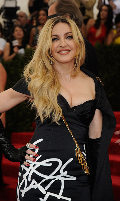 Madonna pictured on the red carpet at the Met Gala in 2015.