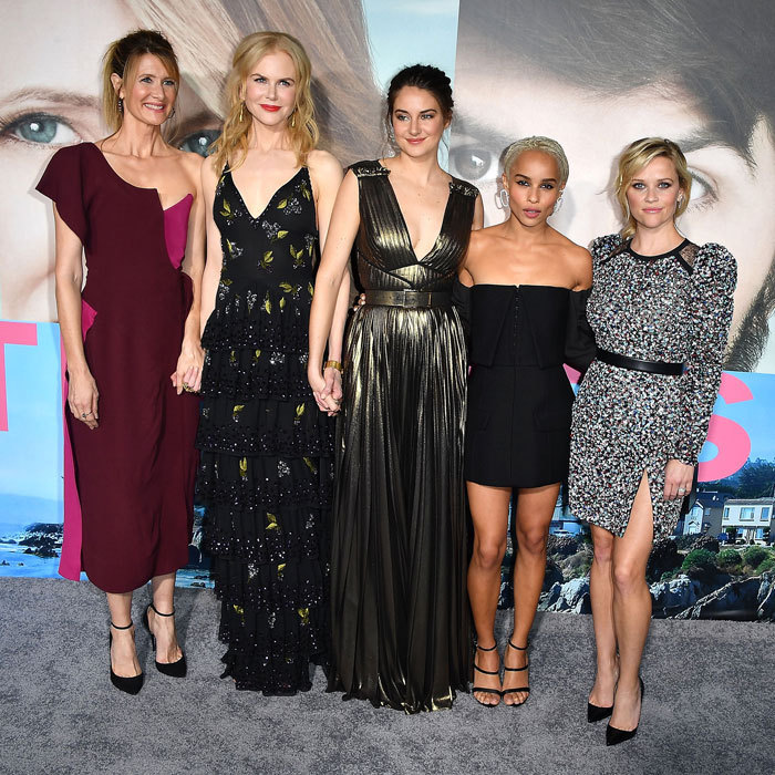 <strong>Feb. 7:</strong> The cast of HBO's <em>Big Little Lies</em>, Laura Dern, Nicole Kidman, Shailene Woodley, Zoe Kravitz and Reese Witherspoon, brought the glamour to the series' Hollywood premiere.