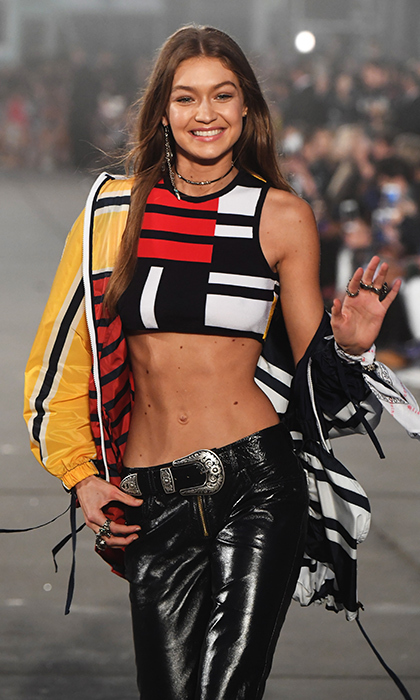 Gigi Hadid leads her squad at Tommy Hilfiger fashion show ...
