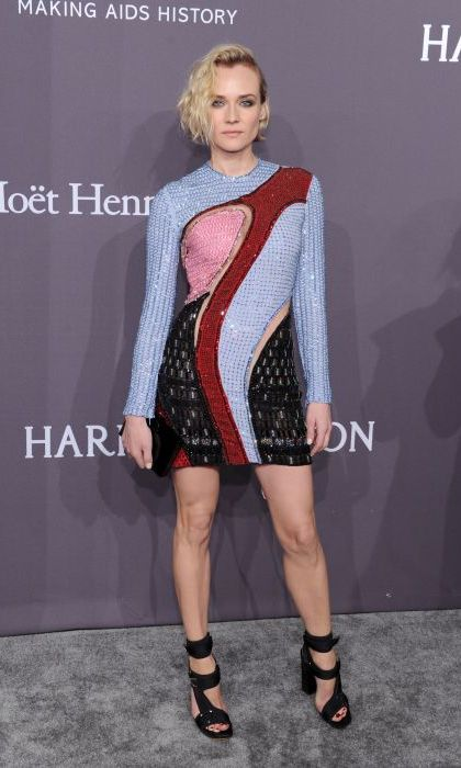 <strong>Feb. 8:</strong> Diane Kruger led a fashionable parade of A-listers in Versace at the amfAR gala in New York City.