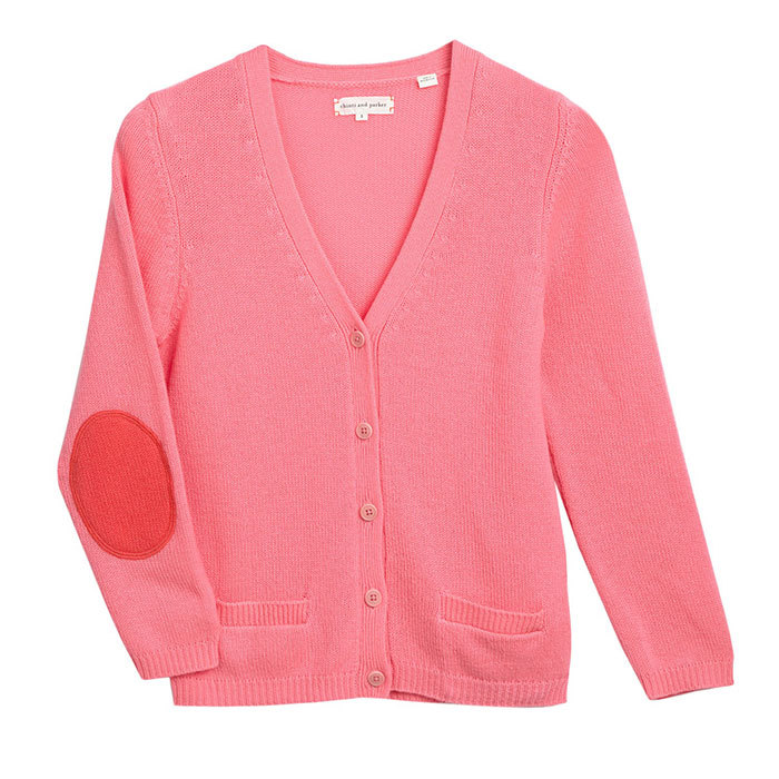 "<strong>Short Pink Cashmere Cardigan in Pink</strong>, $490, <a href=""http://chintiandparker.com"" target=""_blank"">chintiandparker.com</a>"