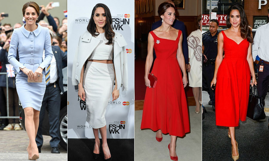 Meghan Markle And Kate Middletons Similar Style