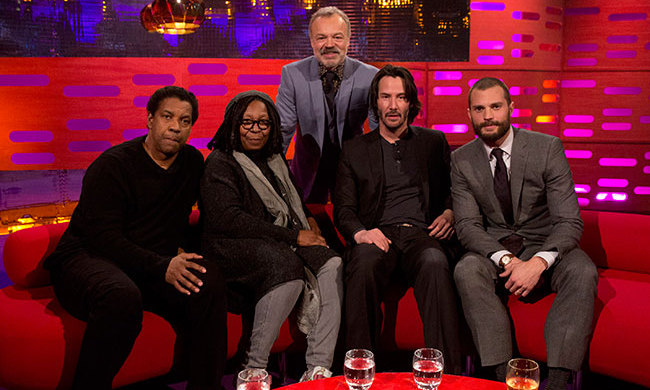 Graham Norton will also welcome Fences star Denzel Washington, John Wick's Keanu Reeves and actress and comedian Whoopi Goldberg on his famous red sofa. Music will come from Rag'N'Bone Man, who will perform his hit song <em>Human</em>.