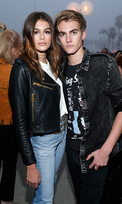 Kaia and Presley Gerber at Tommy Hilfiger