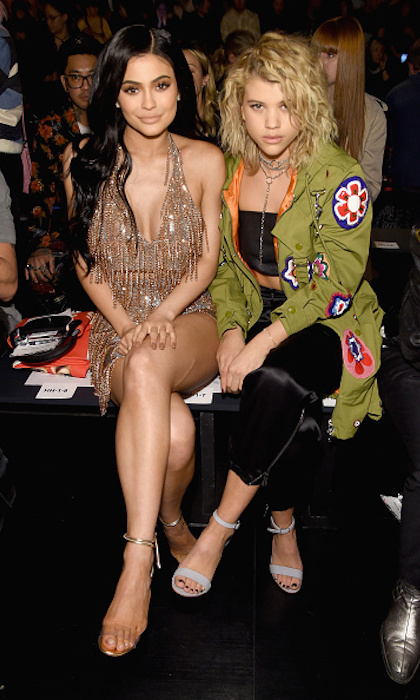 Kylie Jenner and Sofia Richie at Jeremy Scott