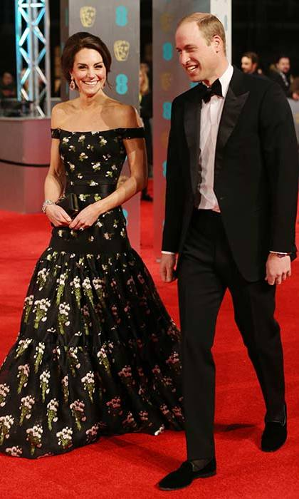 The Duchess of Cambridge, née Kate Middleton, looked incredible in a floor-sweeping gown by her favourite designer Alexander McQueen. 