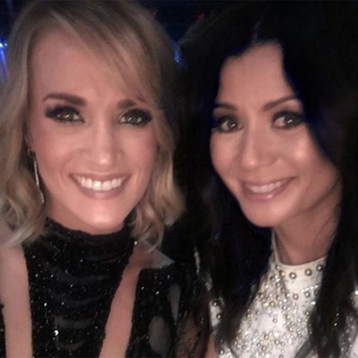 Carrie Underwood revealed she brought close friend Ivey Childers along as her date for the night, wowing fans with a stunning selfie of the pair.