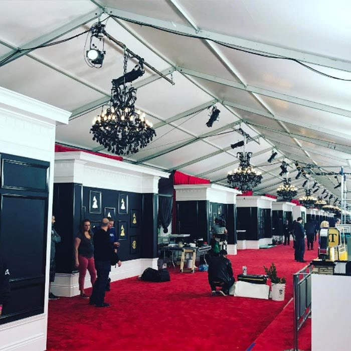 Kris Jenner gave her followers a behind-the-scenes glimpse of the red carpet being set up as she got ready to host E!'s red carpet pre-show. 