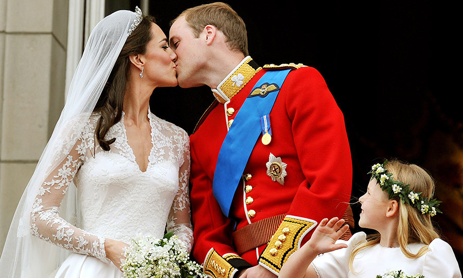 Prince William and Duchess Kate pictured on their wedding day in April 2011.