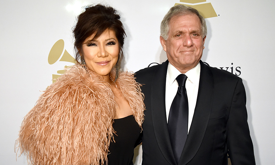 Julie Chen, pictured here with her husband Leslie Moonves, found out the news last month.