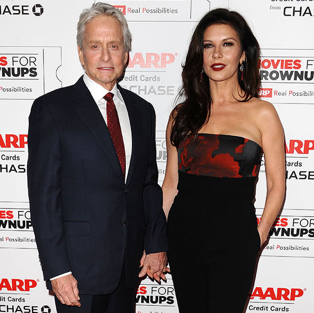 Michael Douglas and Catherine Zeta-Jones at the 15th annual Movies For Grownups Awards in Beverly Hills, last year.