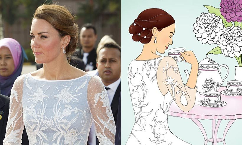 This Kate colouring book is flying off the shelves