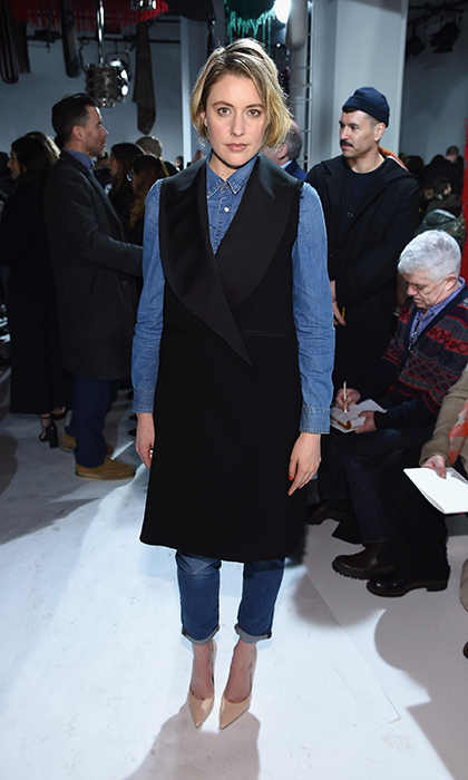 Greta Gerwig at Calvin Klein