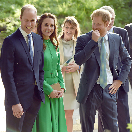 Prince William, Kate and Prince Harry, pictured at the Chelsea Flower Show, are sending out the invites this week.