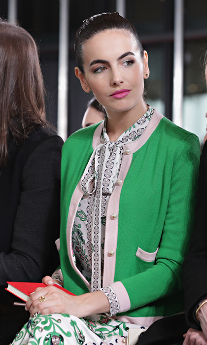 Camilla Belle at Tory Burch