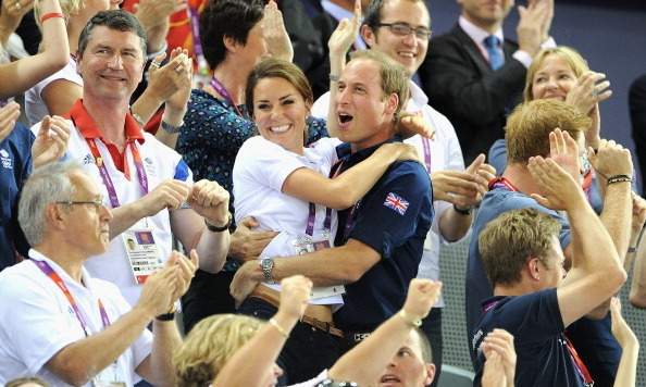 In one of the cutest images ever snapped, Kate clung to William when Team GB took home the gold medal in the team sprint contest during the 2012 London Olympics.