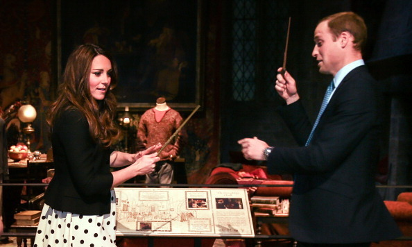 She may be a Duchess, but during a 2013 tour of the Harry Potter studios in London, Kate also doubled as a budding wizard.