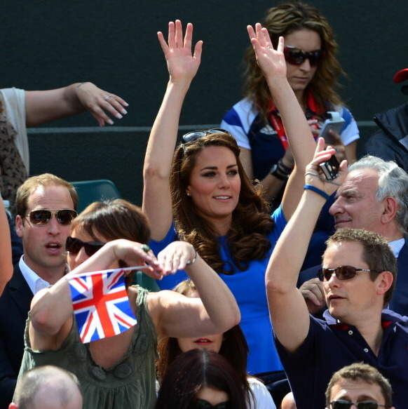 Kate rooted for British tennis champ Andy Murray during the London Summer Games in 2012.